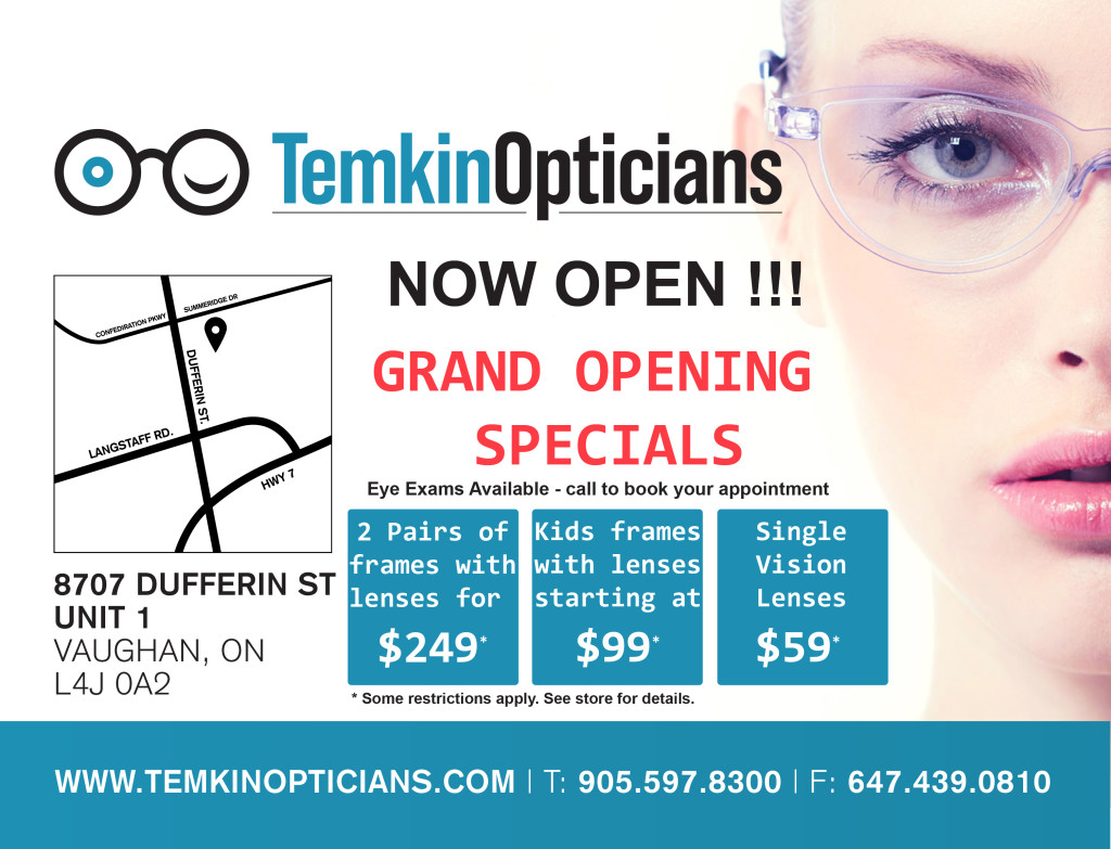 Temkin Opticians specials